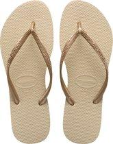 Havaianas Slim Dames Slippers - Grey/Light Golden - Maat 35/36
