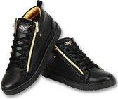 Cash Money Heren Sneaker Bee Black Gold V2- CMS98 -Zwart - Maten: 42