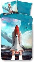 Good Morning Kinderdekbedovertrek Space Shuttle 135x200 cm