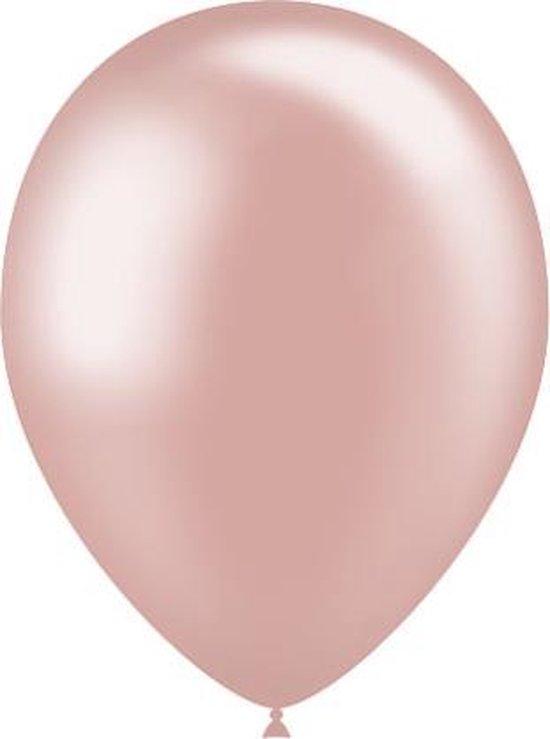 Rosé Gouden Ballonnen Metallic 25cm 50 stuks