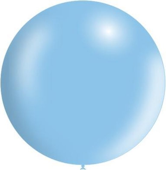 Lichtblauwe Reuze Ballon Metallic 60cm