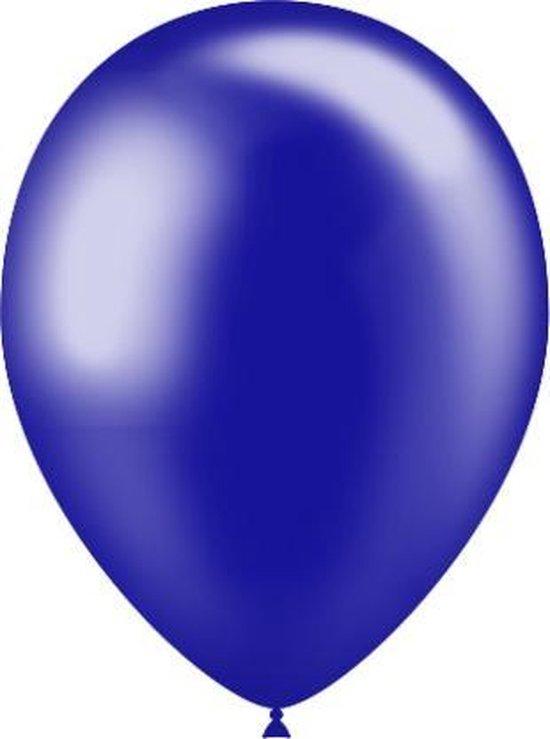 Donkerblauwe Ballonnen Metallic 25cm 50st