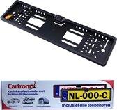 Cartronix kentekenplaathouder met camera | Voor Auto - Camper - Vrachtwagen | Zwart |HD Camera |