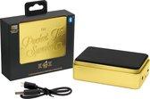Luckies - Draagbare 'Pocket' speaker in tinnenblikje goud