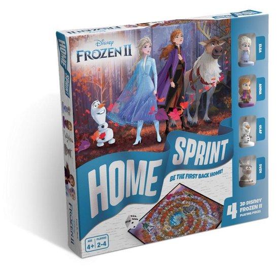 Frozen 2 bordspel - 4 mini figuurtjes (Anna, Elsa, Olaf en Sven)