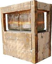 Windlicht als Houten Lantaarns voor binnen en buiten 27cm| GerichteKeuze