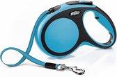 Flexi New Comfort Tape - Hondenriem - Tape - Blauw - M - 5 m - (<25 kg)