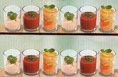 Set van 2 x 6 amuseglazen afmeting 6 cm x 4.5 cm wit glas| amuseglas | glaasjes voor koude en warme amuses | 12 amuseglazen | 12 x amuseglas | dessertglas | toetjesglas