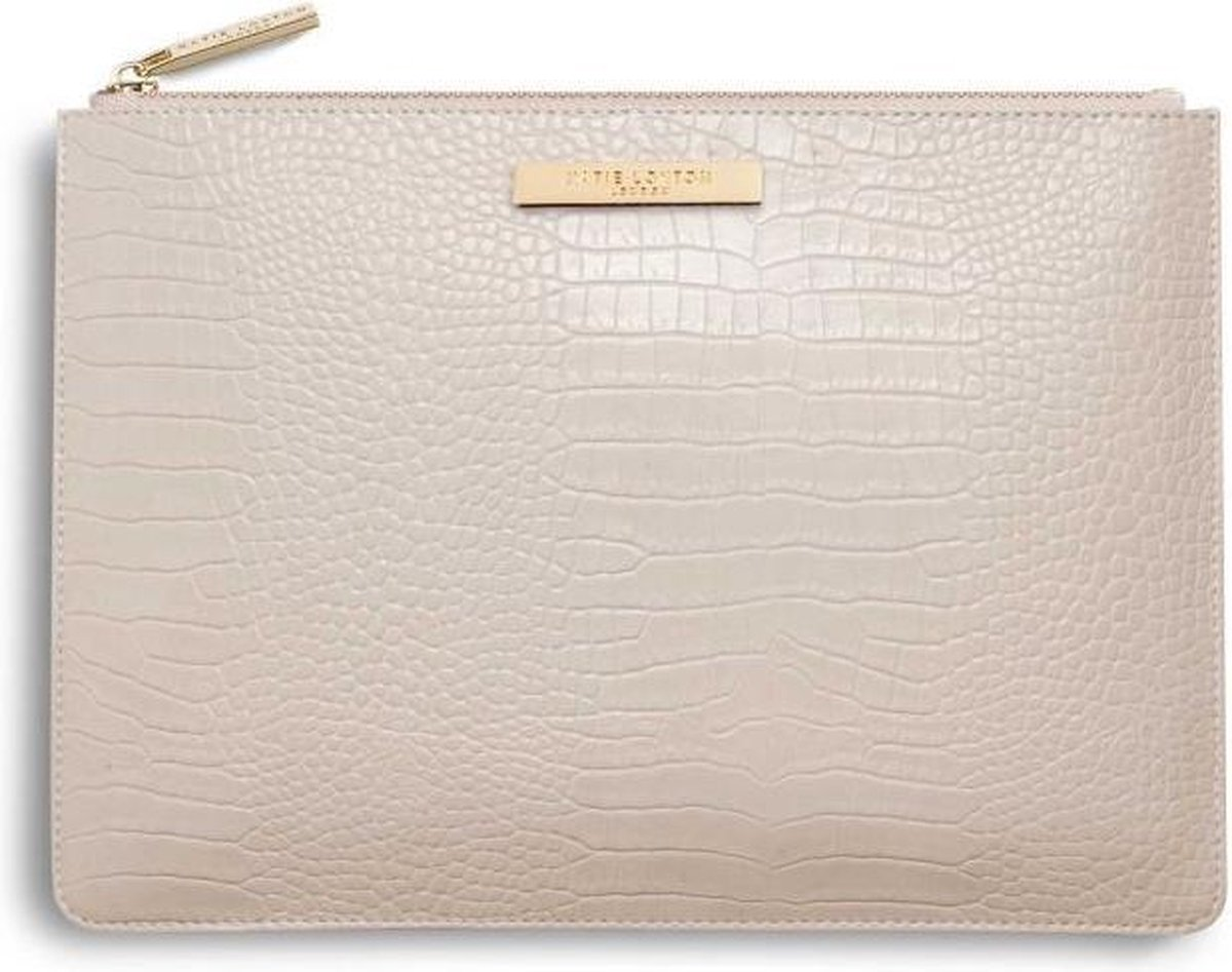 Katie Loxton - Etui Beige - Oester Croc - voor tablet of documenten