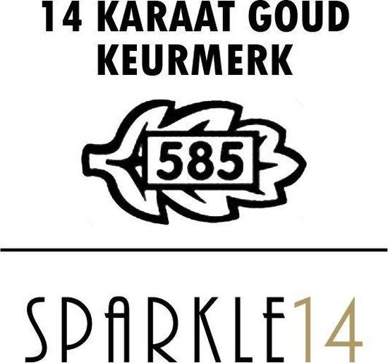 Sparkle14 Klavertje - Hanger - Goud