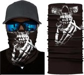 Motor Gezichtsmasker Nekwarmer Schedel - Skull - Motormasker - Skimasker - Motorsjaal - Halloween