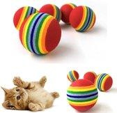EPIN | Katten balletjes | Katten speelgoed | Kauw speelgoed | Interactief spelen | Kittens | 3.5 CM | 2 stuks