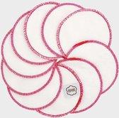 ImseVimse Wasbare Wattenschijfjes 20 Stuks - Wit/Roze