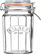 Kilner - Voorraadbokaal met Beugelsluiting - Facet Glas - 950 ml
