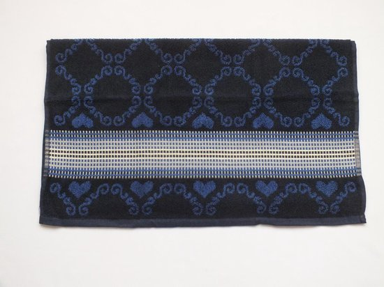 Bunzlau Castle Keukendoek Lace Dark Blue