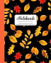 Notebook College Ruled 7.5 x 9.25 in / 19.05 x 23.5 cm