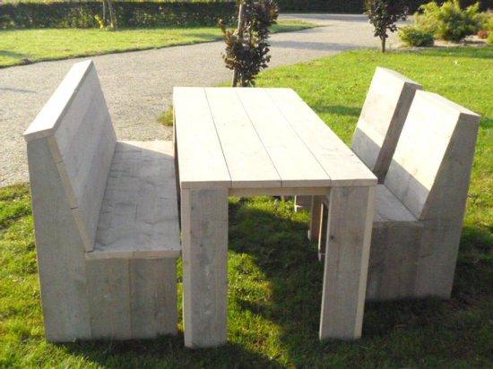 Ongebruikt bol.com   Steigerhout tuinset Basic-tafel 180x80-1 bank-2 stoelen KT-19