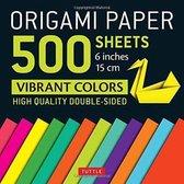 Origami Paper 500 sheets Vibrant Colors 6  (15 cm): Tuttle Origami Paper
