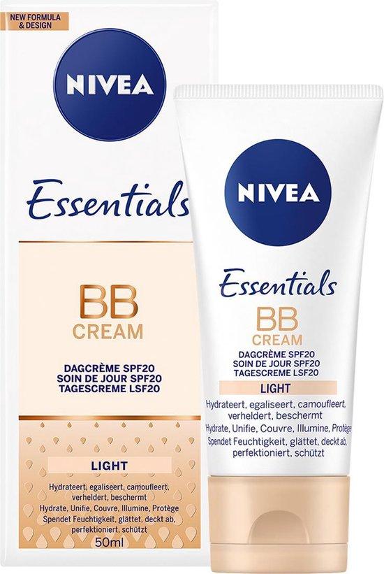 NIVEA Essentials BB Cream 6 in 1 Egaliserende Dagcrème Light - SPF10 - 50 ml