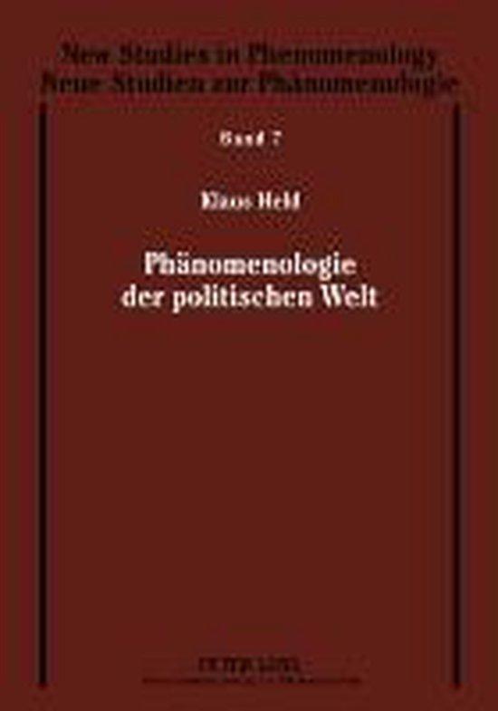 Boek cover Phanomenologie Der Politischen Welt van Klaus Held Prof Em Dr (Hardcover)