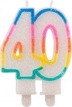 Glitter kaars 40 jaar