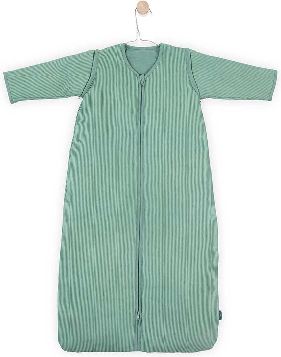 Jollein Rib Padded Babyslaapzak met afritsbare mouw - 110cm - forest green