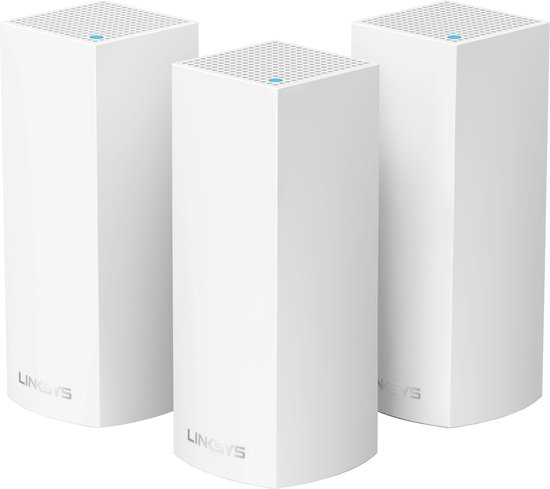 Linksys Velop Tri Band - Multiroom Wifi Systeem - Triple Pack / Wit