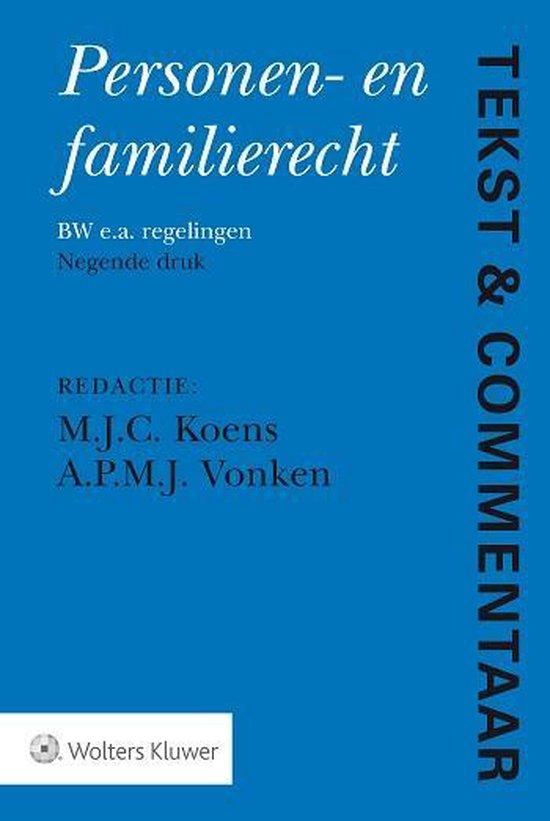 Boek cover Tekst & Commentaar - Personen- en Familierecht van  (Hardcover)