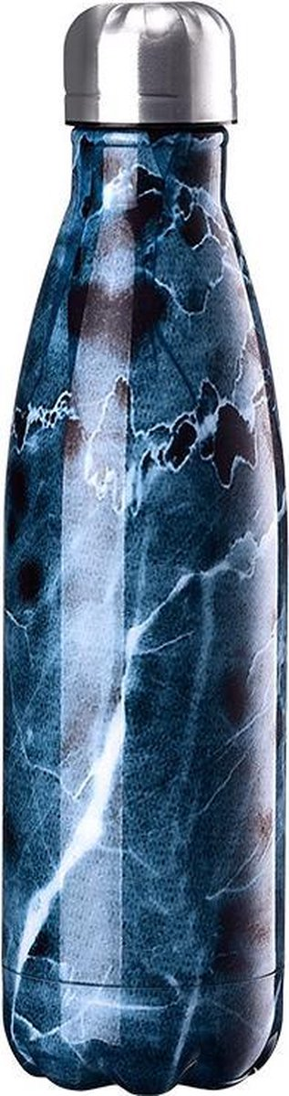 Sequare RVS Drinkfles Coral Blue –  Thermosbeker – Thermosfles – Isoleerfles – Reisbeker – Waterfles – Thermoskan – Koel Fles – Warmhoudfles – Dubbelwandig – 500 ML – BPA Vrij – Roestvrij Staal - Sequare