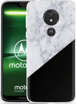 Moto G7 Power Hoesje Marmer Design