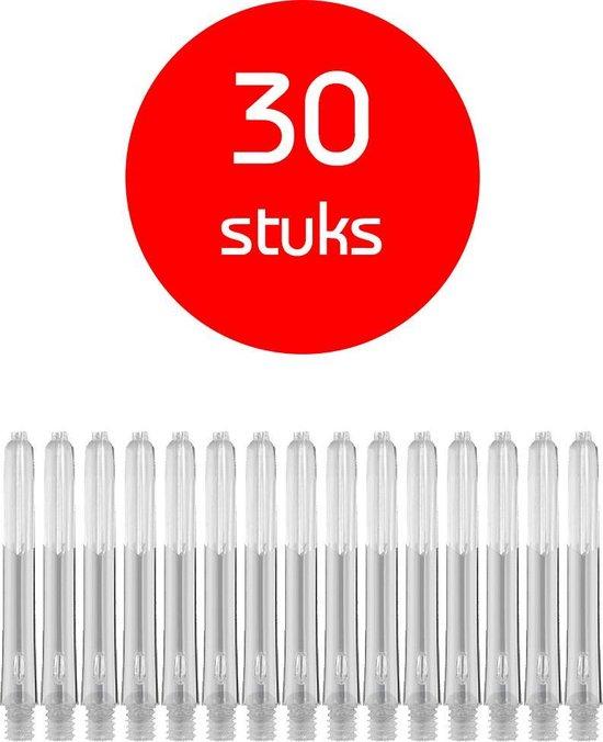 Dragon Darts - edgeglow - darts shafts - 10 sets (30 stuks) - short - clear  - dart shafts - shafts