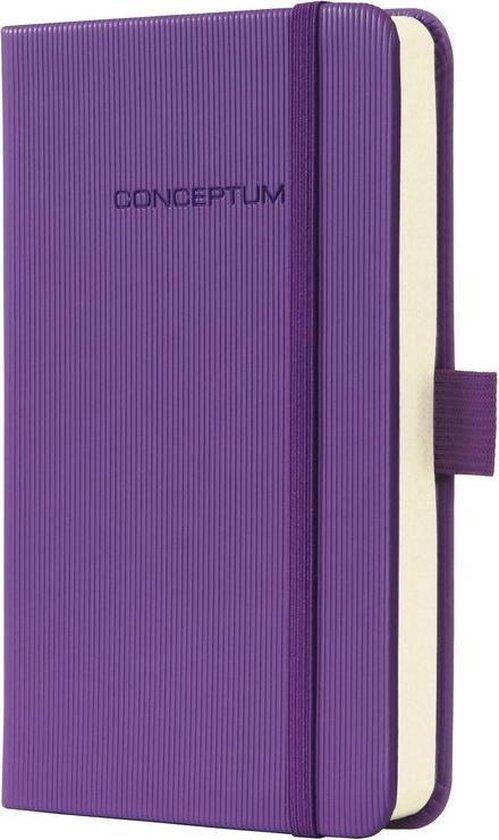 notitieboek Sigel Conceptum Pure hardcover A6 Magic Purple geruit