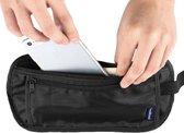 Secret Pocket - Reis Portemonnee - Heuptasje - Moneybelt - Hidden Pocket - Beschermhoes - Light Weight - Zwart