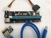 PCI-E 1x to 16x Powered USB 3.0 Extender Riser Adapter 006C