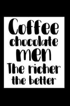 Funny College Ruled Composition Notebook Coffee Chocolate Men the Richer the Better