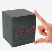 Pride Kings Digitale Mini Cube Led Wekker - 6,5x6,5 Cm - Zwart