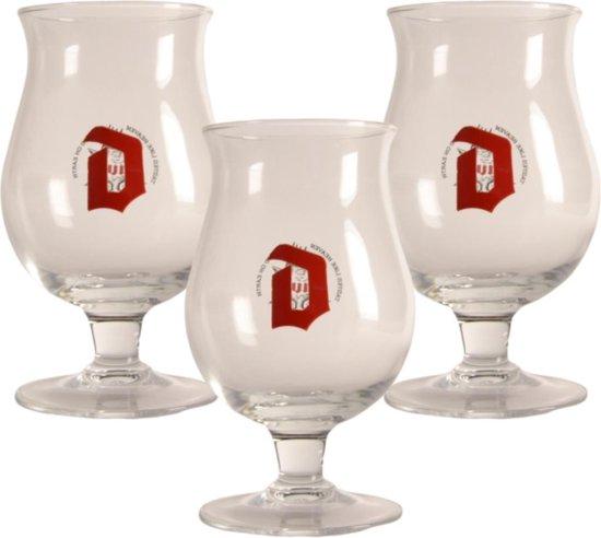 Duvel Bierglas - 33cl (Set van 3 uit glas)