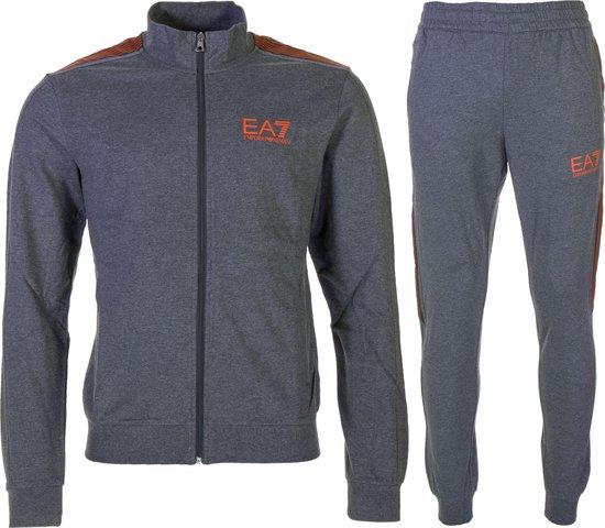 Bol Com Ea7 Slim Fit Gym Joggingpak Heren Trainingspak Maat Xl Mannen Grijs Oranje