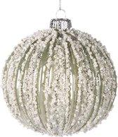 Goodwill Kerstbal - Icecream Wit-Créme - D 10 cm - per 2 stuks