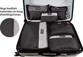 Beefree Koffer organiser 6-delig, formaat handbagage | Travel bag | Reis organizer | Opgeruimde koffer | Kledinghoes | Reistas | Zwart