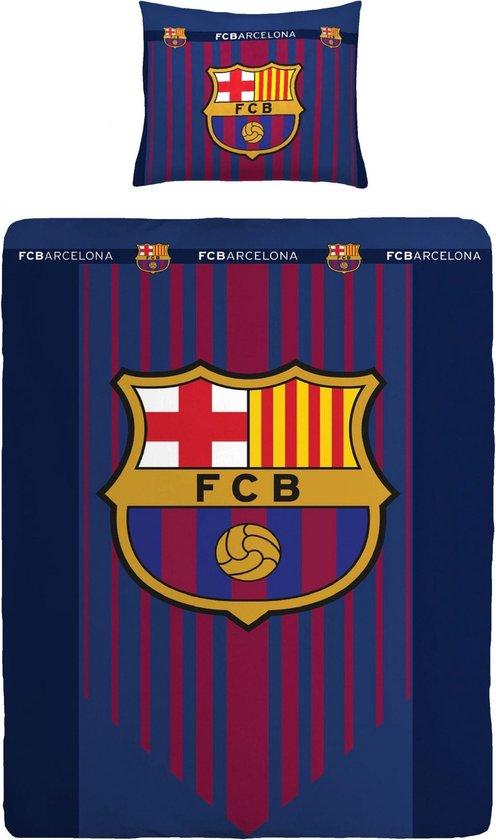 Bol Com Fc Barcelona Dekbedovertrek Logo Blauw 140 X 200 Cm