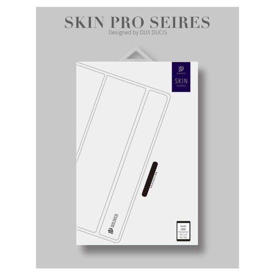 Dux Ducis Skin Bookcase Tablethoes hoesje voor Huawei MediaPad M5 (Pro) 10.8 inch - Blauw - Dux Ducis