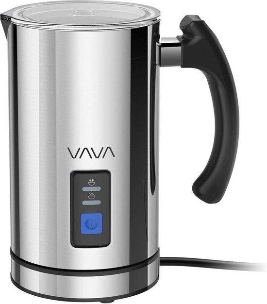 VAVA Elektronische Melkopschuimer | Koud melkschuim maken | Veilige anti-aanbaklaag | Inclusief extra gardes | Zilver