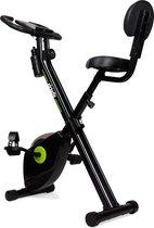 Hometrainer - VirtuFit iConsole Home Trainer - Opvouwbaar met Rugleuning en Bidonhouder - Fitness Fiets - Inklapbaar - Zwart
