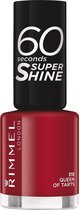 Rimmel London 60 seconds supershine nailpolish - Queen Of Tarts - Burgundy-Wine
