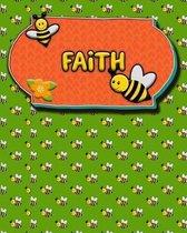 Handwriting Practice 120 Page Honey Bee Book Faith