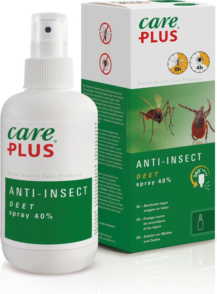 Care Plus Anti-Insect Deet 40% Spray - Muggenspray - 200ml