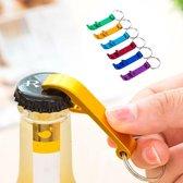5 Stuks Handige Flesopener Sleutelhanger - Opener - Bieropener - Goud