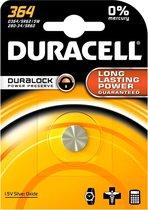 10 Stuks - Duracell V364-363,364, 363, D364. D363, G1, SR621SW, SR621SW, SR60  1.5V knoopcel batterij