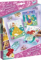 Disney Princess Diamond Painting met 2250 diamanten strass stenen - Totum knutselset - prinseskaarten maken